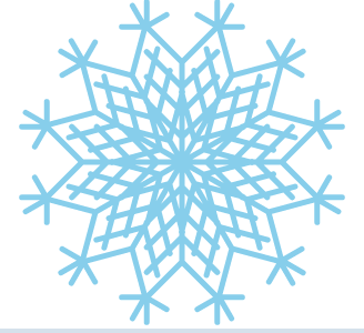 A snowflake designed by a student during