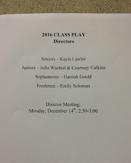 Class Plays Are Here!