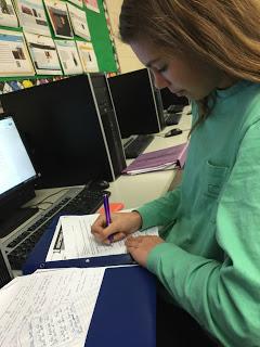 Alyssa Curran studying