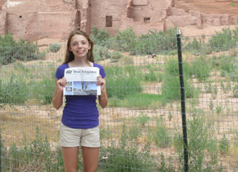 Katherine visiting the Navajo reservation in 2014