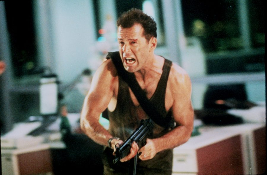 Bruce Willis in a scene from the 1988 motion picture Die Hard. --- DATE TAKEN: 1988  By Peter Sorel   20th Century Fox        HO      - handout ORG XMIT: PX51039
