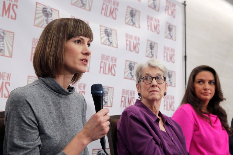 From left: Rachel Crooks, Jessica Leeds, and Samantha Holvey on Monday, December 11th