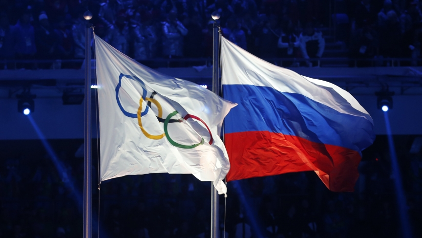 Russian Athletes Represent Olympic Flag
