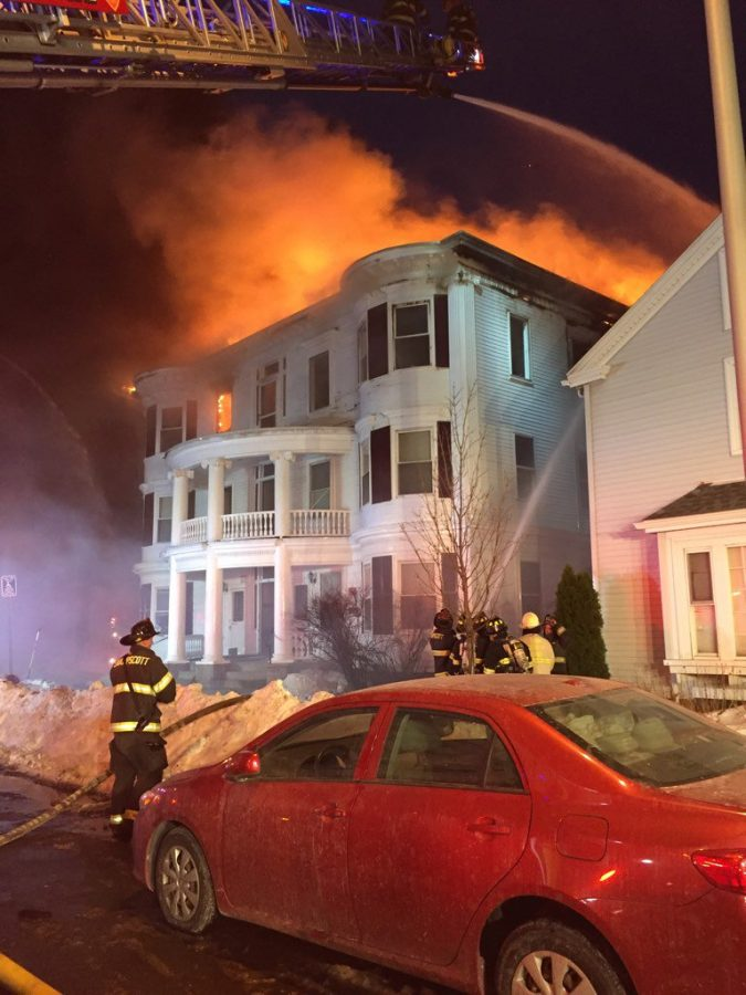 Fire in Lynn, Massachusetts