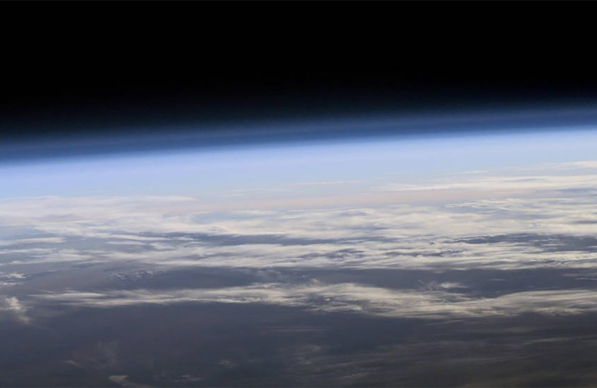Picture of Earth's ozone layer
