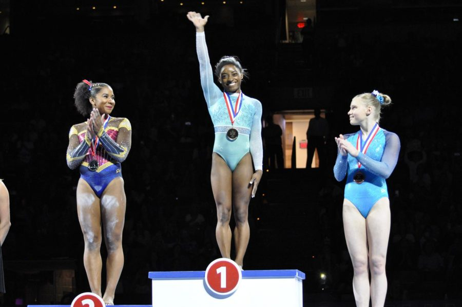 Simone Biles places first