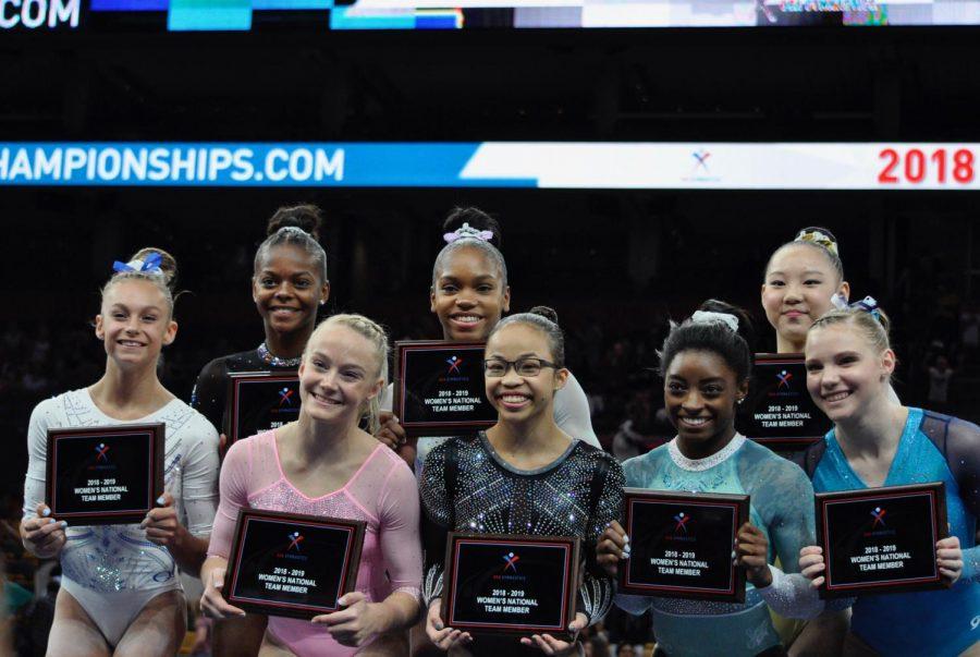 The 2018-19 Women's USA national gymnastics team.