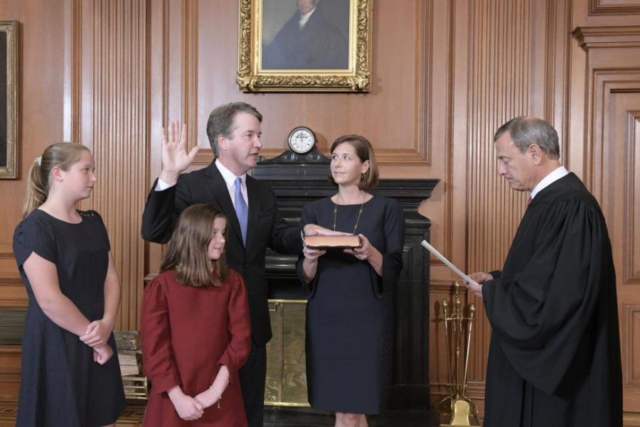 Kavanaugh+Sworn+in+as+Supreme+Court+Justice
