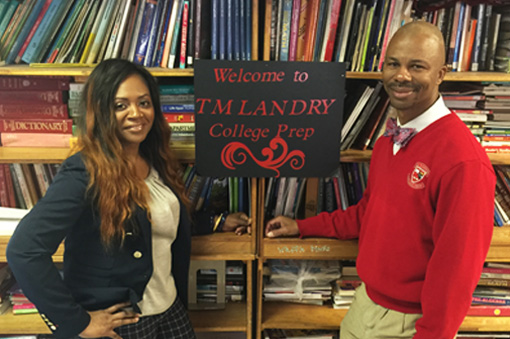 Michael and Tracey Landry, the founders of TM Landry College Prep