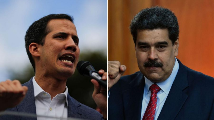 Juan+Guaido+%28L%29+and+Nicolas+Maduro+%28R%29